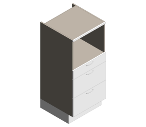 Definitive - 1360mm High - Midi Microwave Coffee Drawers