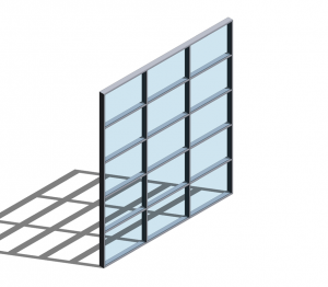 Technal MX Visible Grid Curtain Walling