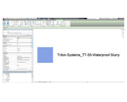 Revit, Bim, Store, Components, Object, 13, Triton, TT55, Waterproof, Slurry