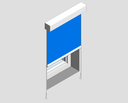Revit, BIM, Download, Free, Components, Window, Décor, R20S, Slow-rise, Spring, Roller, Blind