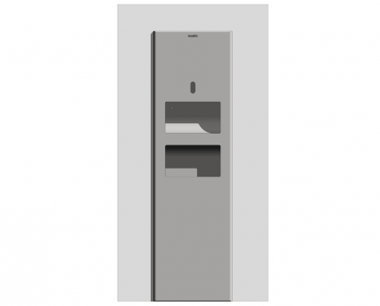 Modric Recessed Paper Towel Dispenser and Bin (SS2480)