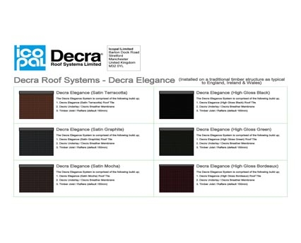Revit, BIM, Download, Free, Components, Icopal, Decra,tile,tiles, Roof, System,aluminium,steel,panels,traditional,appearance,elegance,satin,high,gloss,terracotta,graphite,mocha,black,green,bordeaux