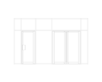 Revit, BIM, Store, Components, Architecture,Object,Free,Download,Kawneer,curtain,wall,system,190,door,doors,single,double,entrance,heavy,traffic,narrow,style,double,acting,swing,finger,guard,FG