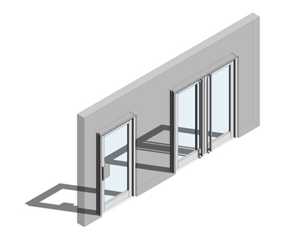 Revit, BIM, Store, Components, Architecture,Object,Free,Download,Kawneer,curtain,wall,system,350,door,doors,single,double,entrance,heavy,traffic,duty,double,acting,swing,451PT,frame