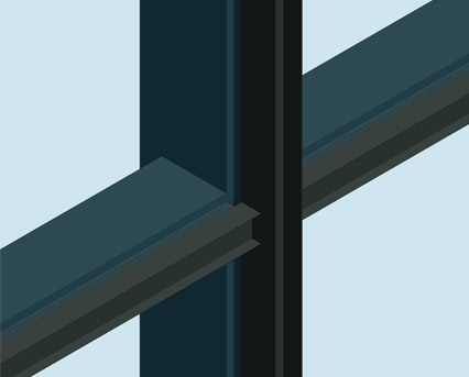 AA100 (50mm) Curtain Wall System - Mullion Drained | BIMstore