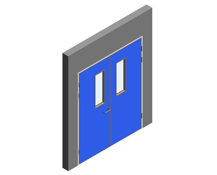 Revit, BIM, Download, Free, Components, Object, Interspec, Single, Door, Lloyd, Worrall, Double, leaf, ironmongery, doorset, detail, 12