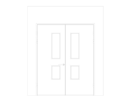 Revit, BIM, Download, Free, Components, Object, Interspec, Single, Door, Lloyd, Worrall, Double, leaf, ironmongery, doorset, detail, 13