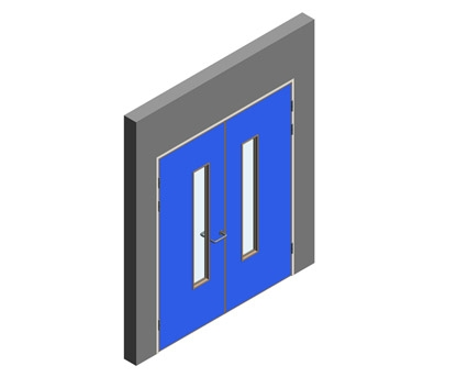 Revit, BIM, Download, Free, Components, Object, Interspec, Single, Door, Lloyd, Worrall, Double, leaf, ironmongery, doorset, detail, 14