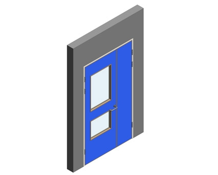Revit, BIM, Download, Free, Components, Object, Interspec, Single, Door, Lloyd, Worrall, Half, leaf, ironmongery, doorset, detail, 10