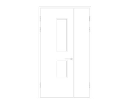 Revit, BIM, Download, Free, Components, Object, Interspec, Single, Door, Lloyd, Worrall, Half, leaf, ironmongery, doorset, detail, 13