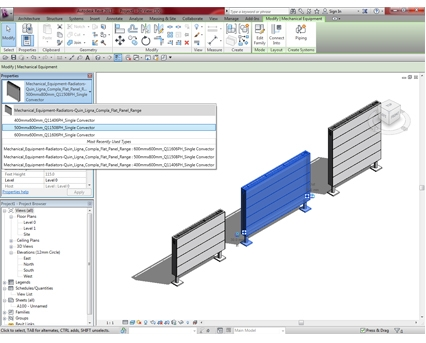Revit, BIM, Download, Free, Components, object, objects, QRL, radiator, heating, mechanical, Designer, range, equipment, radiators, Ligna