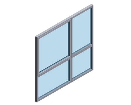 Technal fy65 soleal high performance window system for X window system architecture