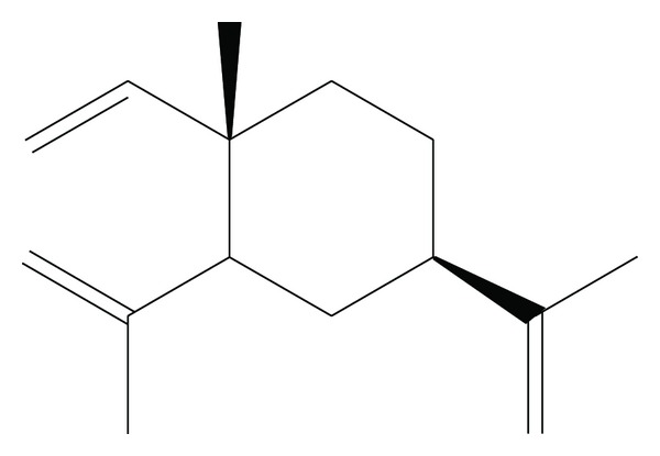 Chemical structure of  β -Elemene.