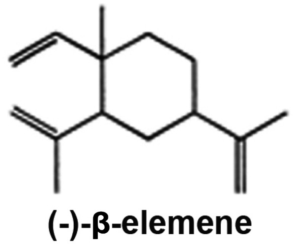 The chemical structure of β-elemene.