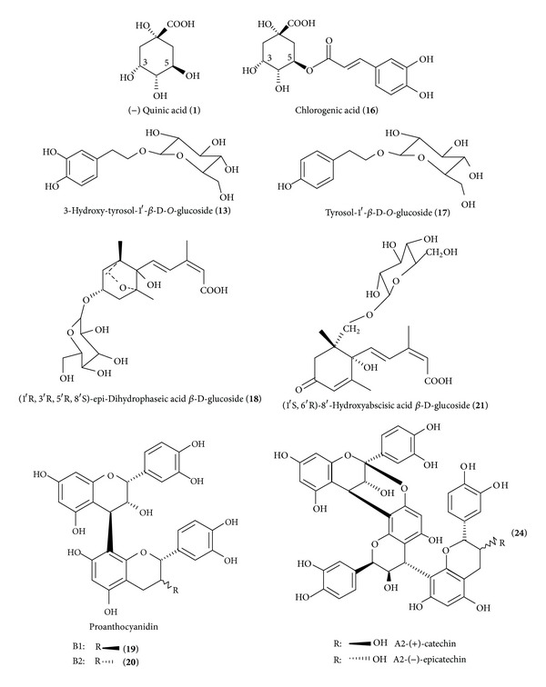 Structures of the identified compounds by <t>LC-ESI-MS</t> analysis in the avocado seeds extracts and the tested <t>HSCCC</t> fractions.