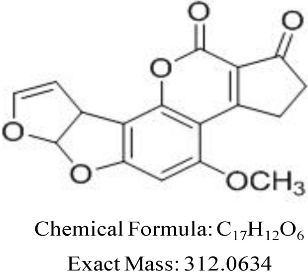 Chemical structure for AFB1.