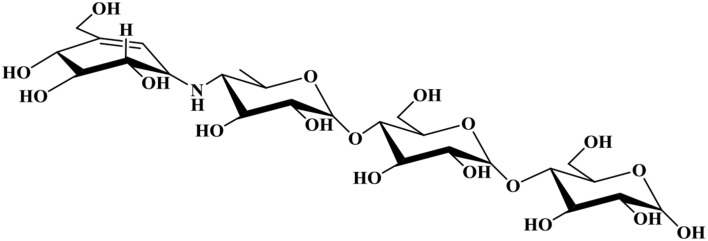 Chemical structure for acarbose .