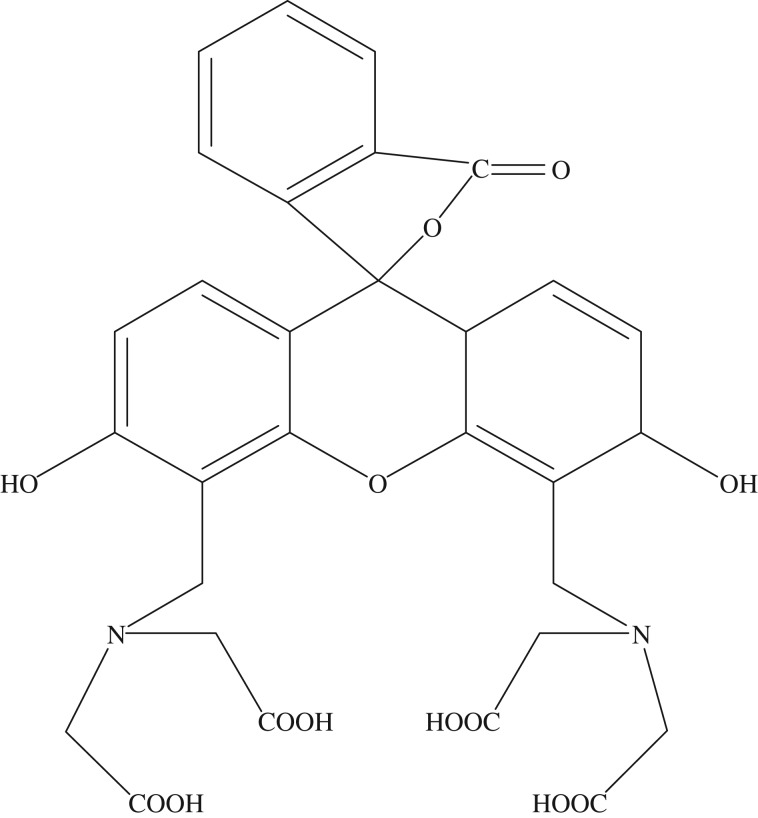 Molecular structure of calcein.