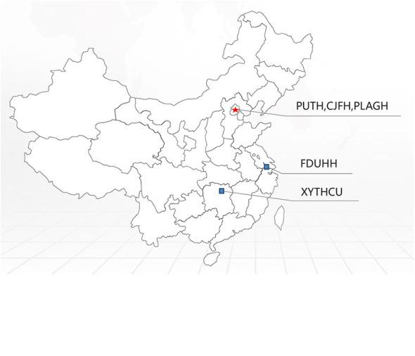 Distribution of PMP22 mutation frequencies observed in a series of Chinese CMT centers on a Chinese map.