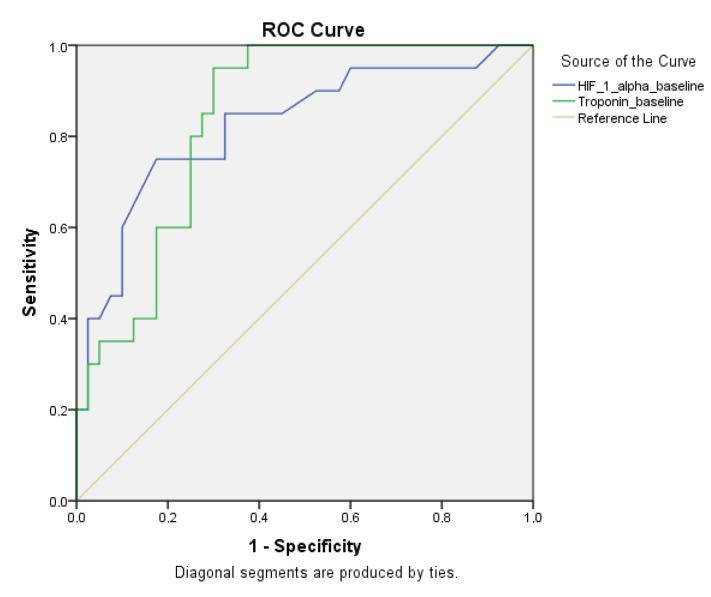 ROC curve analysis in patients with and without high-risk embolism with <t>HIF-1</t> α, troponin-ı baseline HIF-1 alpha: Hypoxia inducible <t>factor-1α</t>