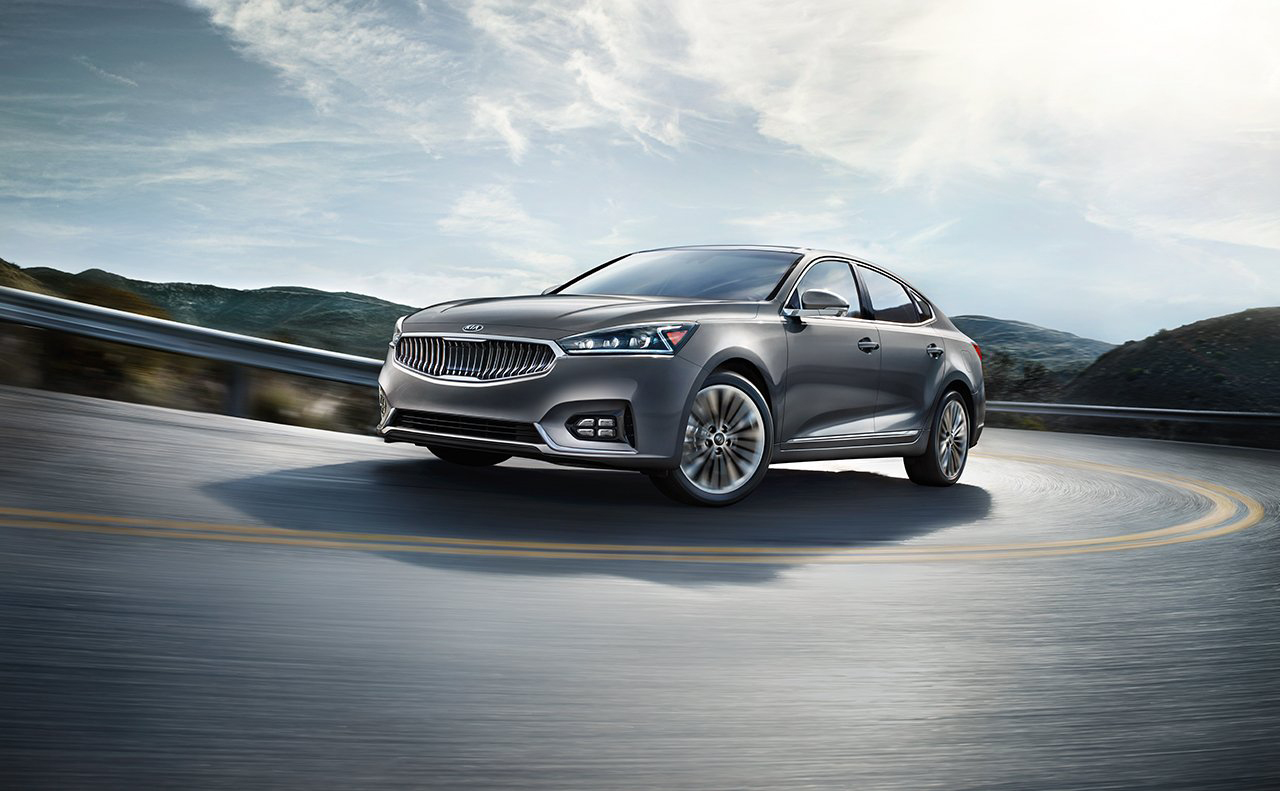 2017 Kia Cadenza on mountain road
