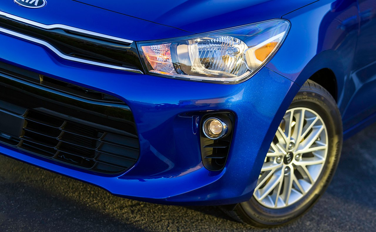 Blue Kia Rio Headlight