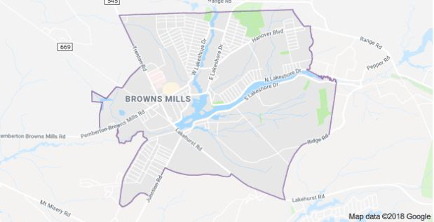 Brown Mills Map