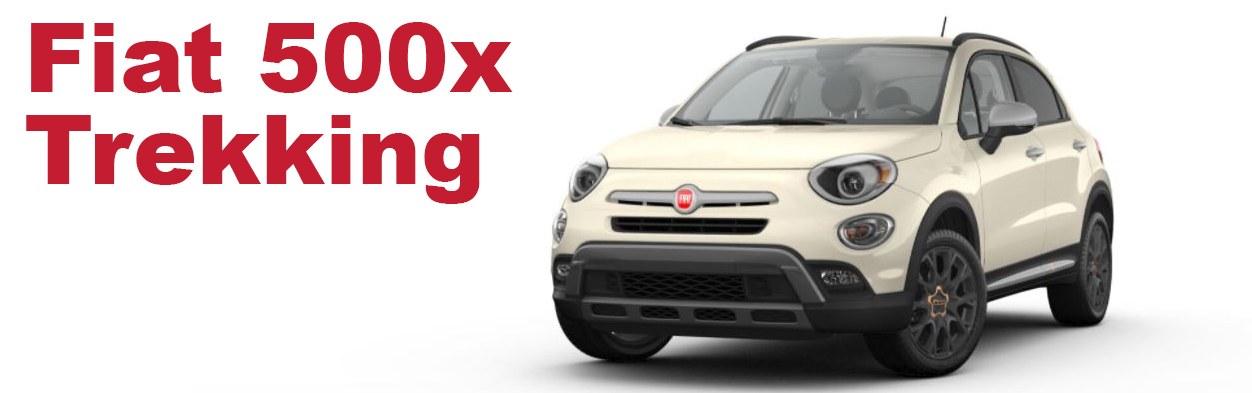 Isolated Fiat 500x Trekking in New Castle on White Background
