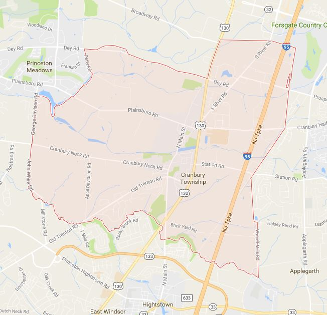 location of dealership in Cranbury Township nj