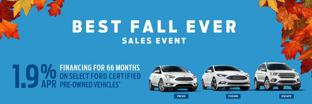 Ford Best Fall Ever Certified Pre-Owned Sale 2017