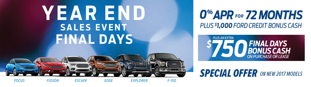 Ford Year End Sale 2017