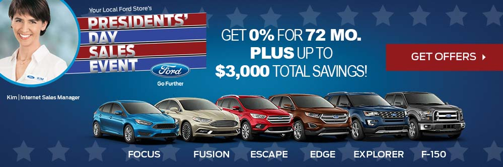 Ford Presidents Day Sales Event