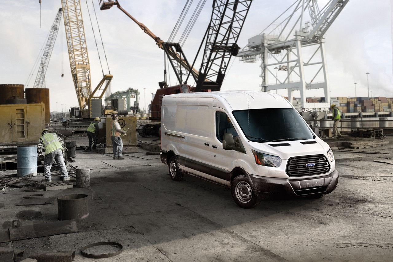 2018 Ford Transit Cargo Van on work site