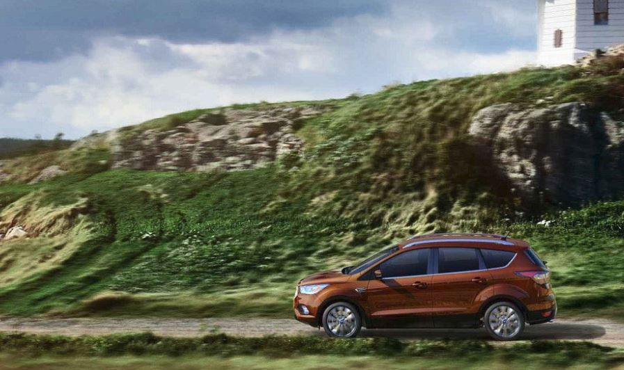 2018 Ford Escape Orange outdoors