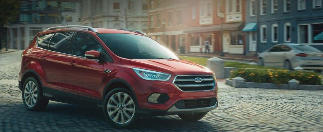 2018 Ford Edge red city