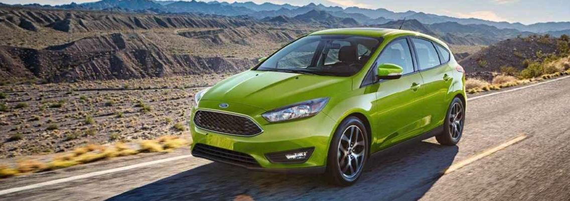 Green 2018 Ford Focus hatchback