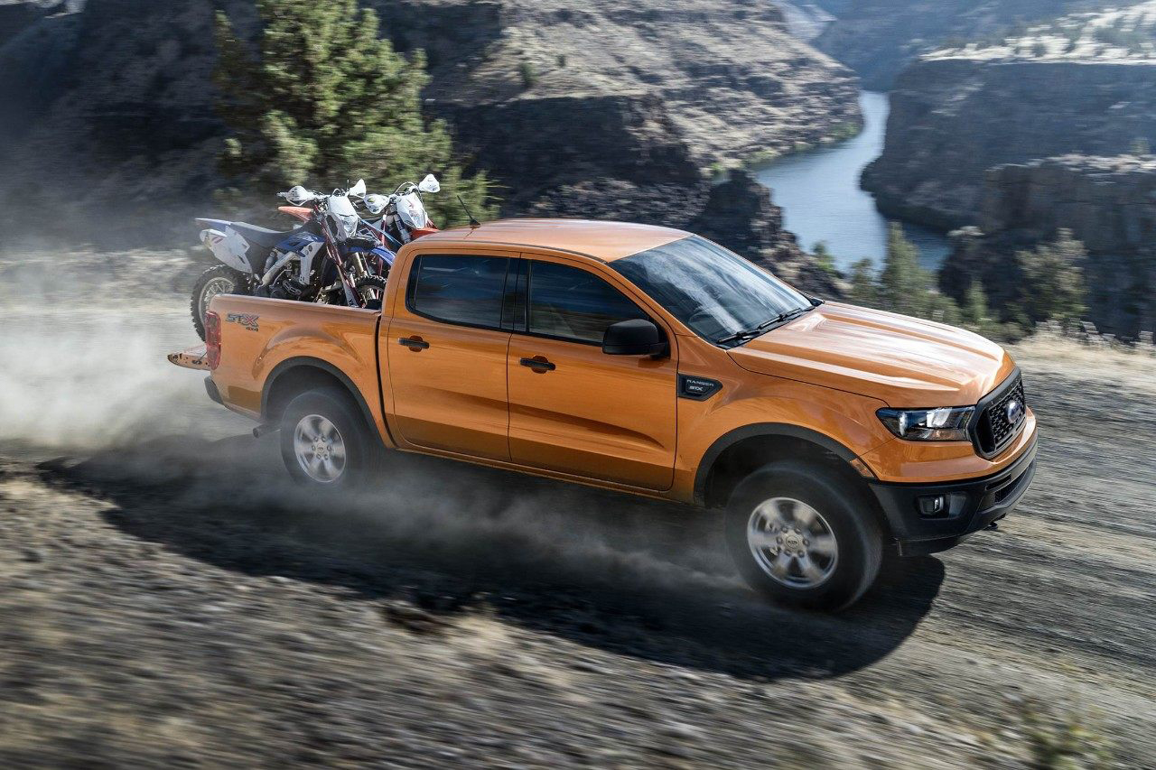 2019 Ford Ranger driving on mountainside