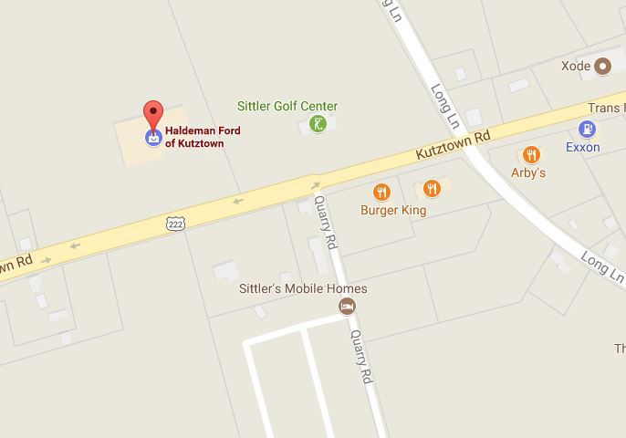 location of dealership in Kutztown, PA