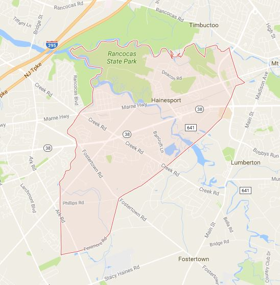location of dealership in Hainesport Township nj