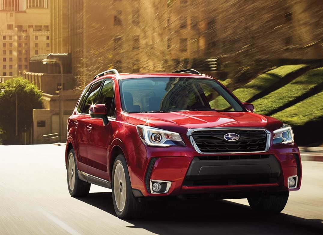 2018 Red Subaru Forester