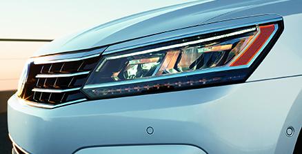 VW Passat headlight