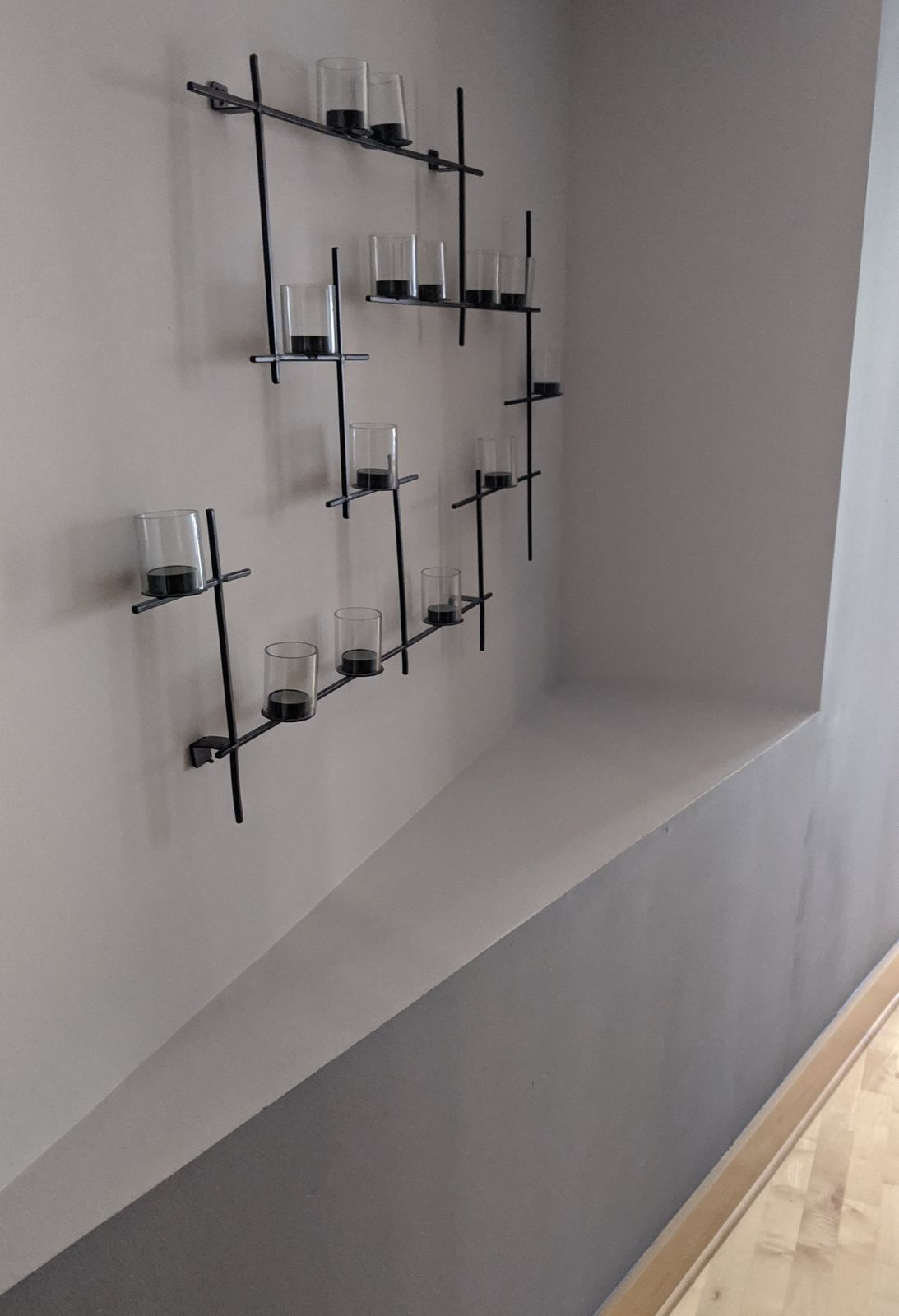 This falls under #1: I don't want to repaint the white area, so this is not a shelf.