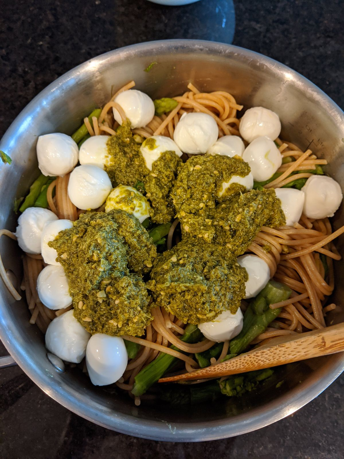 Modifications: The recipe called for making your own pesto, which I didn't do. I also served it in the pan - less dishes to wash!