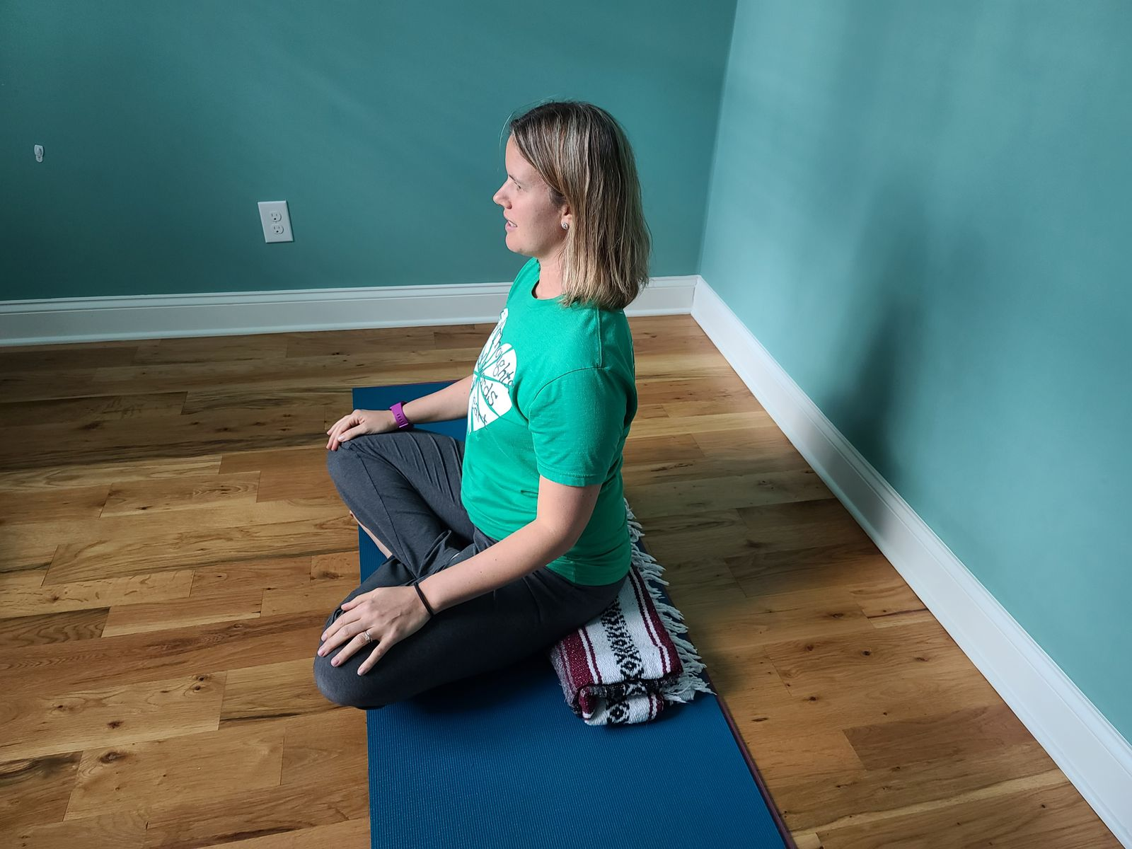 Seated under the hips to lift the hips and support your posture