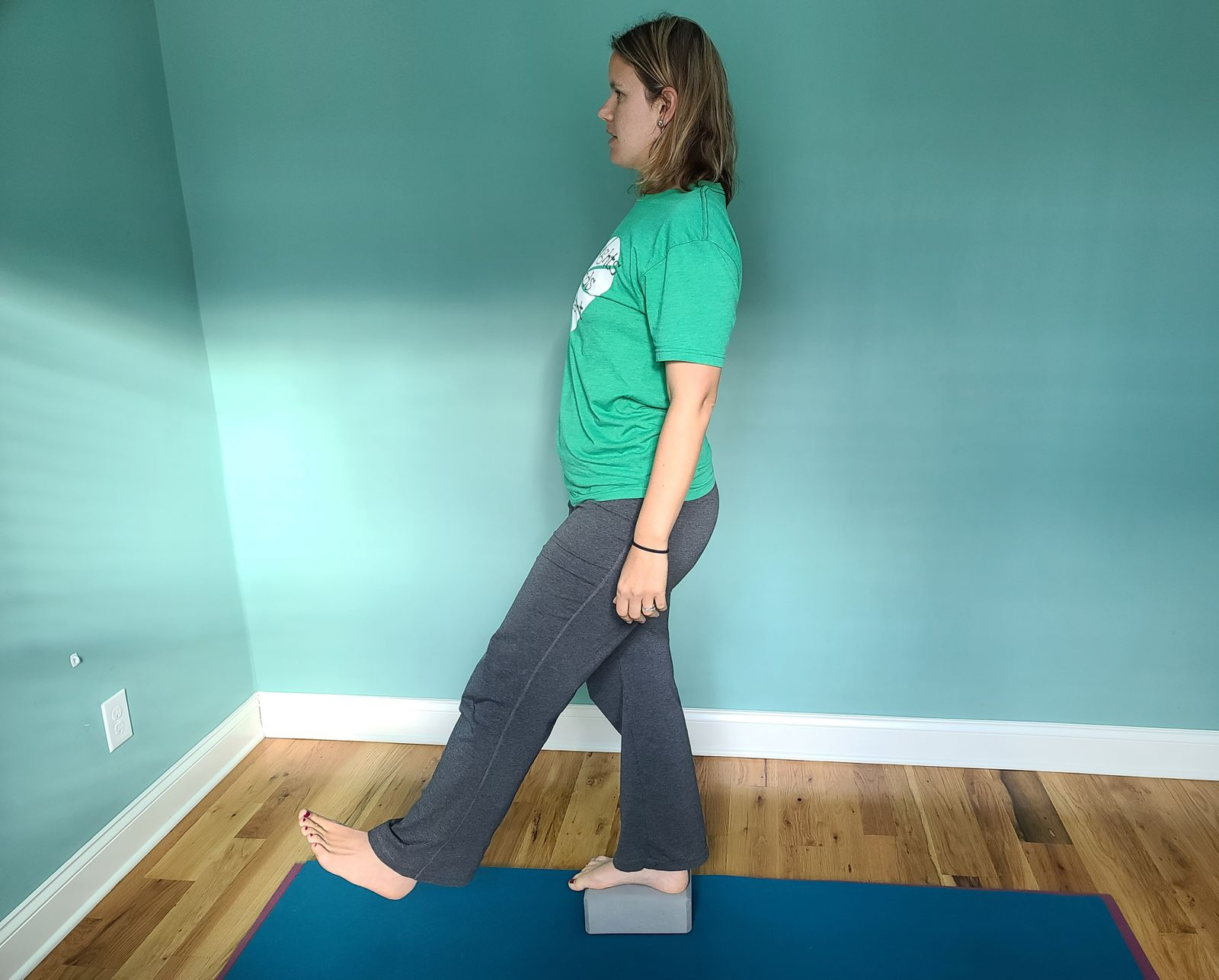 Hip swings- standing on the move through hip range of motion