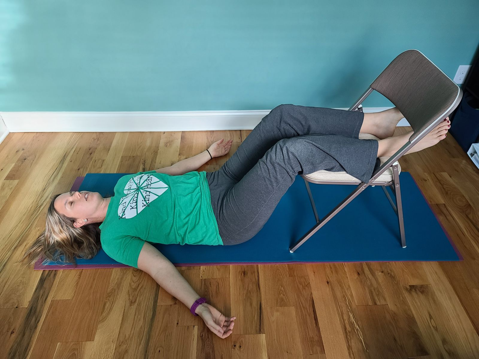 Relaxation- legs ups to unwind