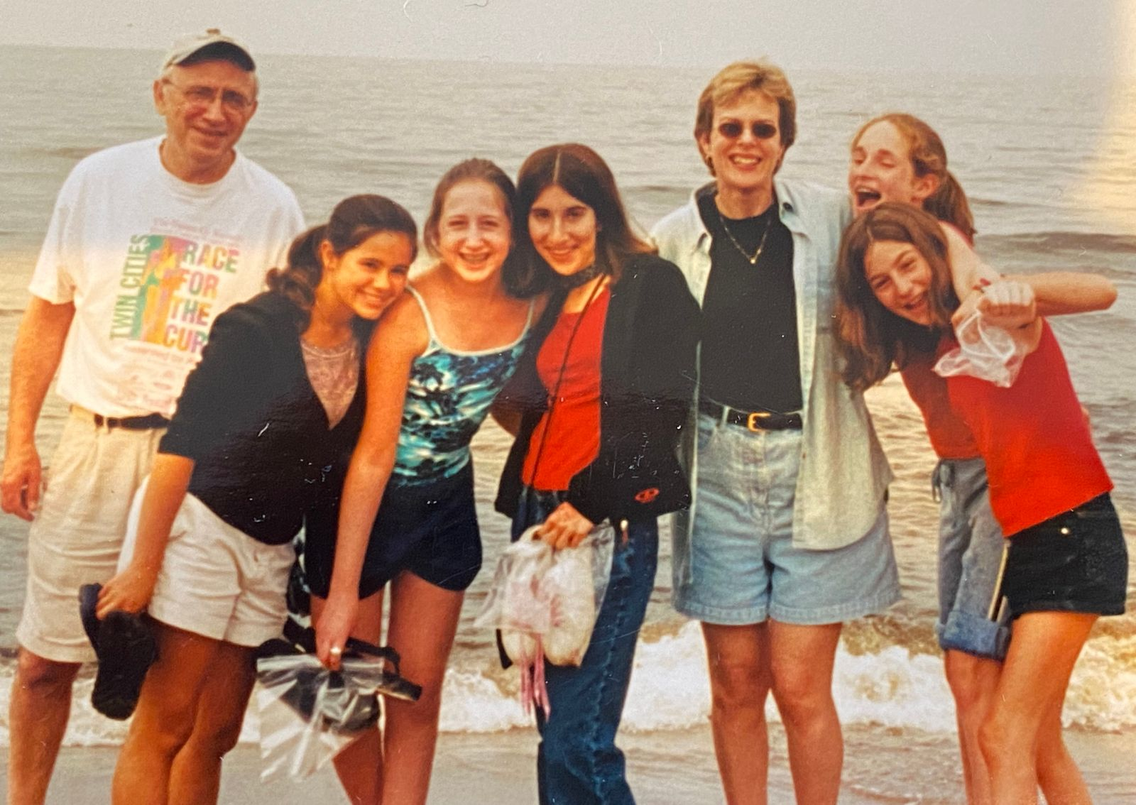 Rather than a Bat Mitzvah party, Abby wanted to take her close friends on a trip. Kathy and David took the girls to Duluth, 2001.