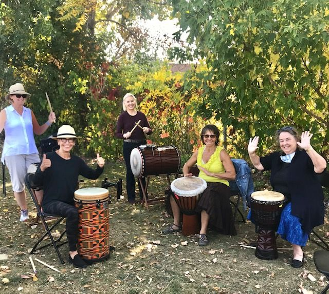 Groovin'Heart 1 for Women  last year during the Covid challengers.  Drumming helped us get through the unusual year.                                                                                   Drumming is accessible, fun, and offers many health benefits!