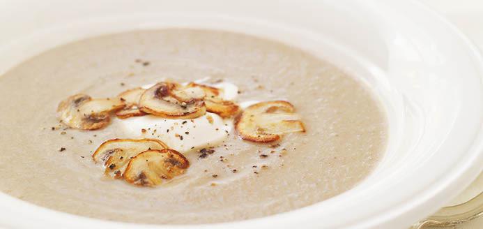 supa crema de ciuperci)