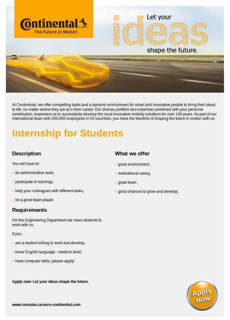 Internship for Students